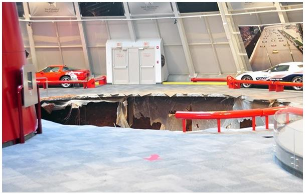 Sinkhole Swallows 8 Vettes at Corvette Museum | sinkhole, Corvette museum, 8 Corvettes involved, Bowling Green, Kentucky, WGNS