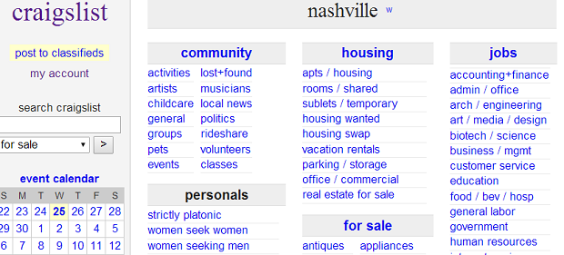 Craigslist Nashville Related Keywords Amp Suggestions Craigslist Nashville Long Tail Keywords