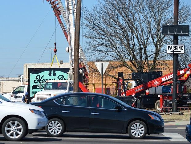 Iconic Haynes Bros. Lumber Sign Removed | Haynes Brothers Lumber, sign, WGNS, Murfreesboro news, Bridge over Broad