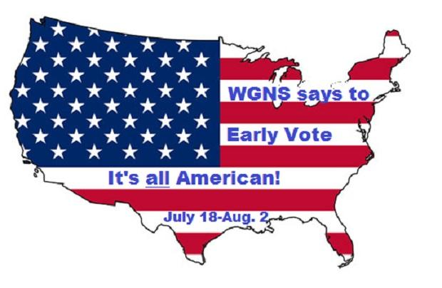 EARLY VOTING, Now Through August 2nd! | Early Voting; Rutherford County Election Commission; July 18-August 2, 2014; WGNS