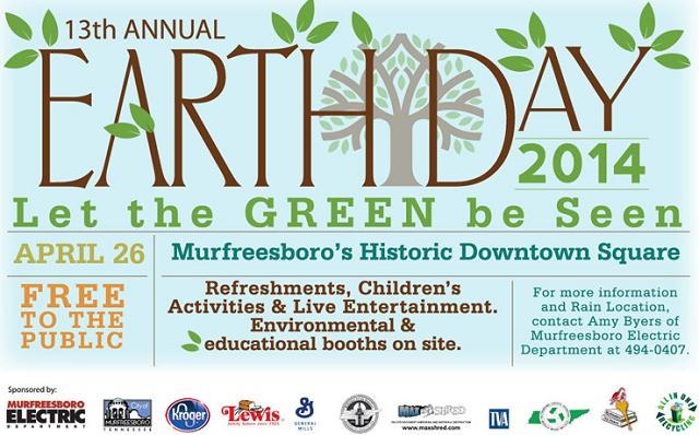 Earth Day Celebration | Earth Day, Murfreesboro news, WGNS, WGNS News