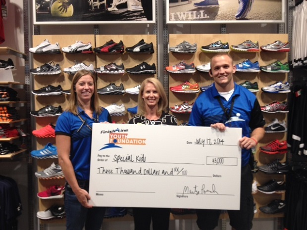 Finish Line Youth Foundation Grants $3K to Special Kids | Special Kids, Murfreesboro news, Murfreesboro, Special Kids in Murfreesboro, WGNS News, Finish Line, Murfreesboro Finish Line