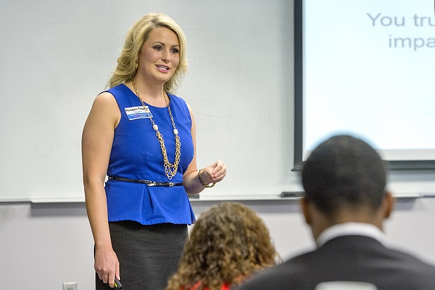 Local United Way President and CEO Meagan Flippin Speaks to MTSU Students  | United Way, Flippin, Murfreesboro news, MTSU News, Murfreesboro, WGNS
