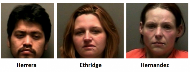 Simple Police Stop Leads to Three Arrests in Murfreesboro  | Herrera,Ethridge,Hernandez, detainer, ICE, Murfreesboro news, Murfreesboro radio, Murfreesboro, Murfreesboro radio, DUI, driving on revoked, driving on suspended