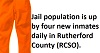 The local Jail has seen a huge inmate population INCREASE this year
