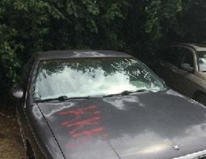KKK Spray painted on 8-cars in Murfreesboro and two cars set on fire | KKK, car fire, car fires, Murfreesboro news, Robinson Towing, Murfreesboro vandalism, Murfreesboro