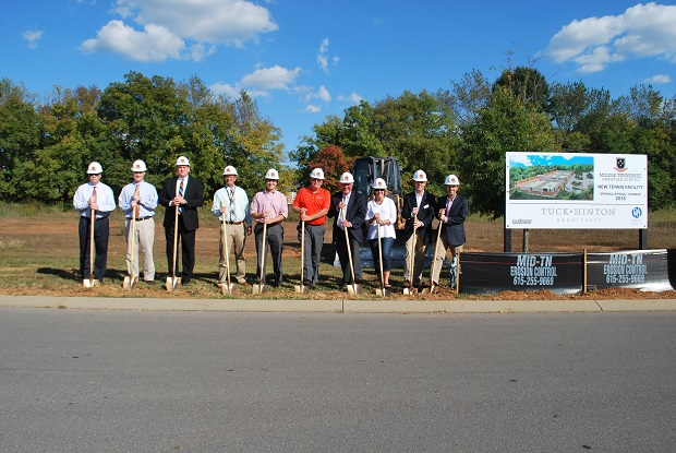 The groundbreaking ceremony for the new MTCS Tennis Facility was held on Monday | MTCS, tennis, MTCS Tennis, Murfreesboro Tennis