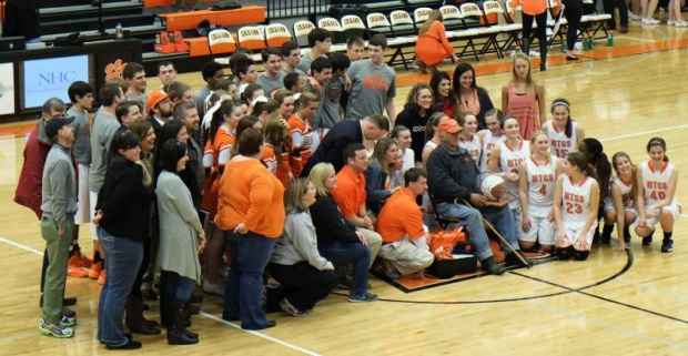 Long Time Supporter Recognized at MTCS on Tuesday Night | MTCS, Murfreesboro news, Murfreesboro, TN, MTCS game, Ernest Bogle, Bogle, Ernest