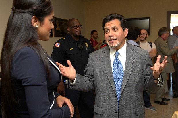 Former U.S. Attorney General Alberto Gonzales met with some mild protest at MTSU | Gonzales, Murfreesboro news, WGNS News, MTSU News