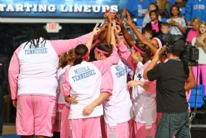 Play 4Kay Power of Pink Game at MTSU!  | Play4Kay, MTSU News, Murfreesboro news, Lady Raiders, MTSU Basketball, MTSU