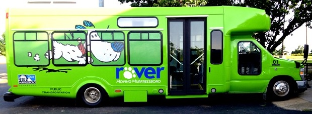 Rover Bus Ridership Up 10,000 in Murfreesboro