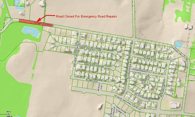 Emergency Road Repair on Swamp Leanna Road | Swamp Leanna Road, road repair, WGNS, Murfreesboro news, WGNS News