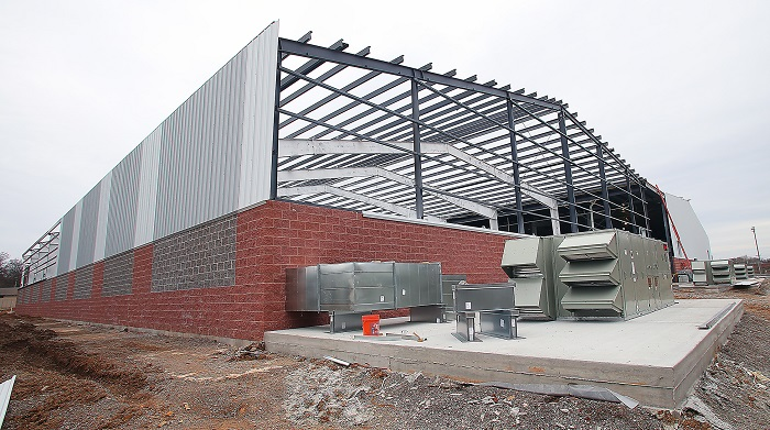 New indoor tennis facility in Old Fort Park is taking shape