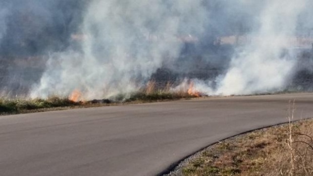 Don't Panic: Set burn at the Stones River Battlefield  | Stones River National Battlefield, battlefield, Murfreesboro news, Murfreesboro, Murfreesboro fire and rescue, fire and rescue, battlefield fire