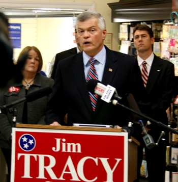 State Senator Tracy Out To Unseat U.S. Congressman DesJarlais | Congressman DesJarlais, Scott, Jim Tracy, State Senator, Running, 2014, Congress, Murfreesboro, Reeves Sain Drugstore, Memorial Blvd.