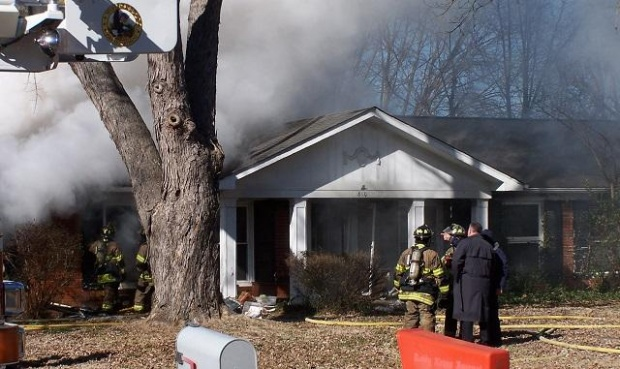 Baird Lane Fire Started in the Garage (With Pictures) | fire, Baird Lane, Murfreesboro Fire and Rescue, WGNS, Murfreesboro news