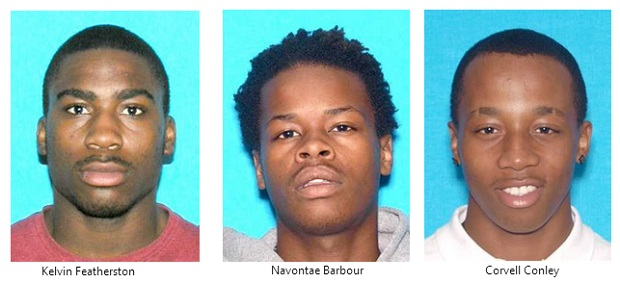 Three Suspects Wanted by Smyrna Police - Do You Recognize Them?  | Corvell Conley, Navontae Barbour,Kelvin Featherston, Smyrna Police, Smyrna news, Smyrna, Murfreesboro news, Smyrna radio, WGNS