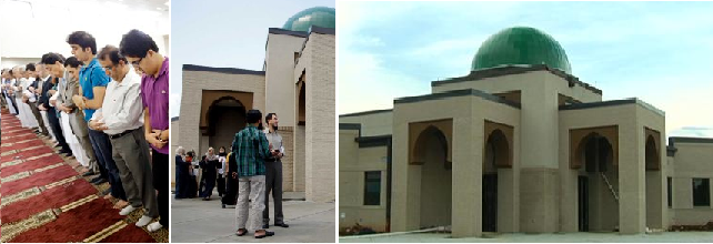 Islamic Members Pray In New Mosque