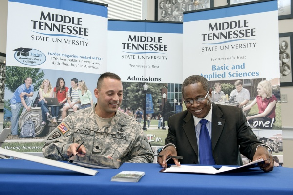 MTSU Signs Second Military Partnership in Two Years
