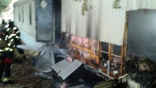 Sunday Morning Fire Destroys Mobile Home