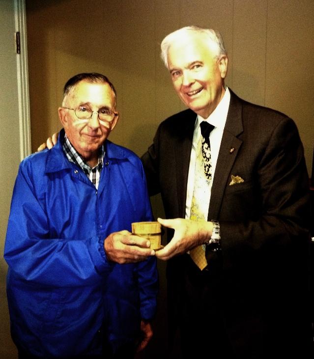 "Nelson Smotherman gives radio station a rare ""WGNS Miniature Cedar Bucket"""