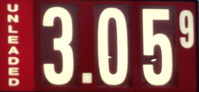 'Boro Still Best Gas Prices With Some Discounters $3.05   gas prices; $3.05; Murfreesboro; WGNS