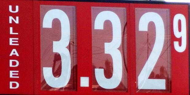 Gas Down Slightly...$3.32 in the 'Boro | $3.32 per gallon, gas; Murfreesboro; AAA report; WGNS