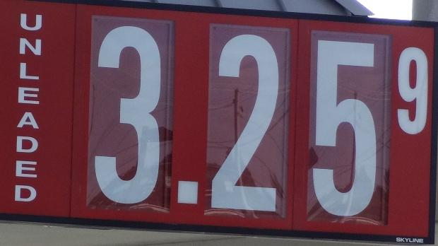 Gas Prices Decline Across Southeast | gas prices; decline; $3.25 per gallon in Murfreesboro; WGNS