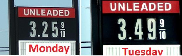 What A Difference A Day Makes...Gas Prices JUMP! | Iraq fighting increases price of oil, gas prices; 'Boro; WGNS