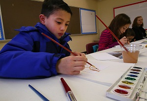Local home school students participate in art class in Murfreesboro