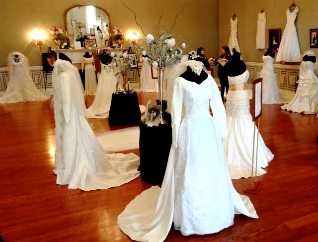 """Wedding Dresses Through The Decades"" now through March 2nd at Oakland Historic House Museum 