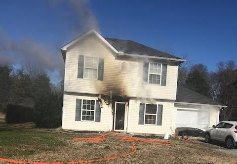 Christiana Fire Damages Home