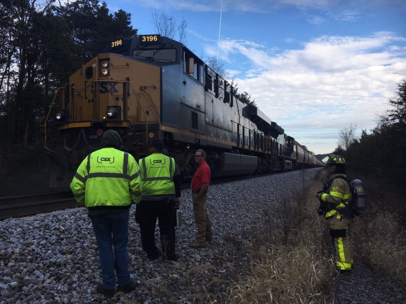 Grain Fire in Train Container