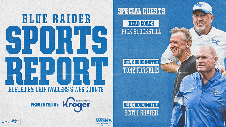Blue Raider Sports Report Debuts on WGNS Monday