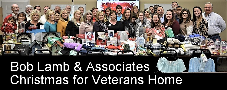 Exit Realty Bob Lamb & Associates used their annual Christmas Party as an event to collect gifts for the Tennessee State Veterans' Home. More than 100 items were donated by the company's agents