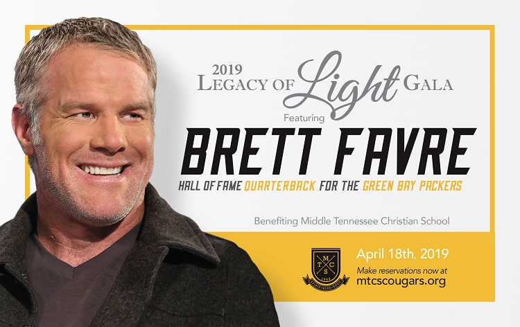 Brett Favre to Speak at MTCS Legacy of Light Gala
