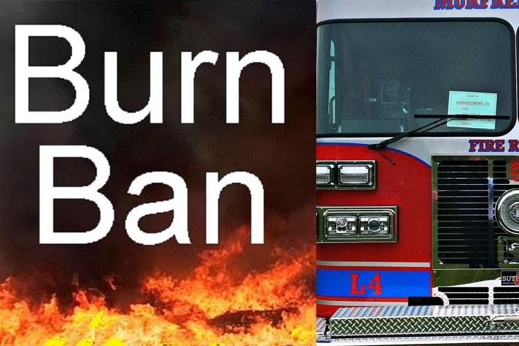 NO BURNING in Murfreesboro or County!