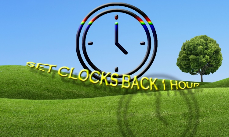 CHANGE CLOCKS--Fall Back This Weekend!