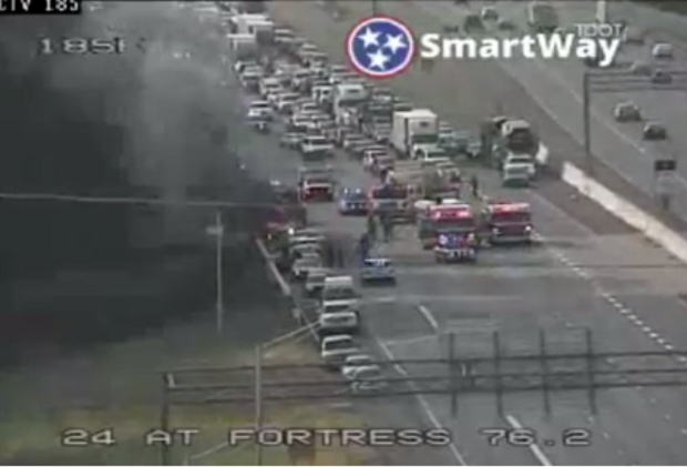 Vehicle Fire Shuts Down Part of I-24 at Medical Center Parkway