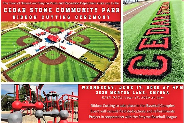 Cedar Stone Park In Smyrna Opens June 17th