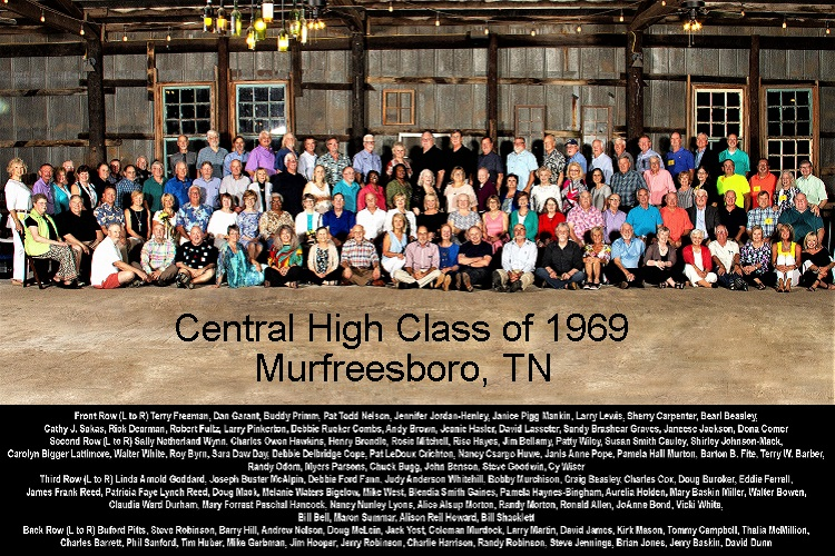 1969 Central Tigers Celebrated 50th Anniversary   Central High School, Murfreesboro, 50th Anniversary, Class of 1969, Rise Hayes, WGNS, Bill Shacklett