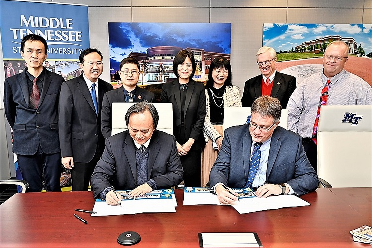 MTSU and  Guangxi University Signed Agreement