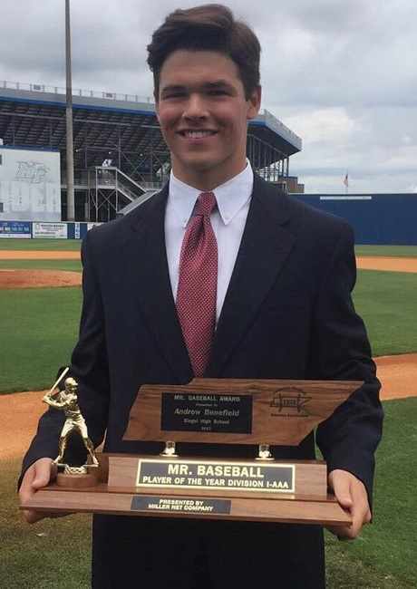 Siegel's Drew Benefield Mr. Baseball Class AAA