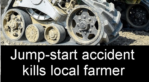 Farmer Killed When Jump-Starting Tractor That Was In-Gear | RCEMS, RCSO, Lascassas, farm accident, tractor with tracks, WGNS