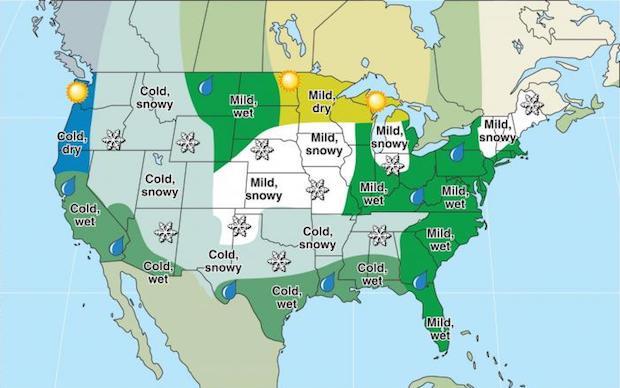 Farmer's Almanac Predicts