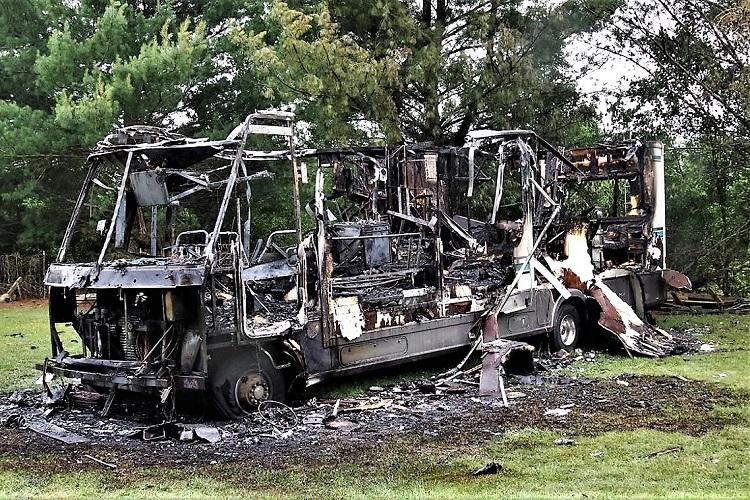 Saturday Morning RV Blaze In Christiana Injures 1