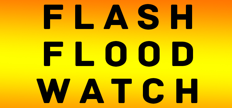 Flash Flood Watch through Monday Night