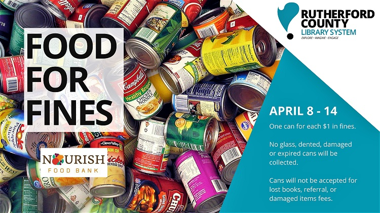 Pay Book Fines, Feed Hungry--April 8-11, 2018
