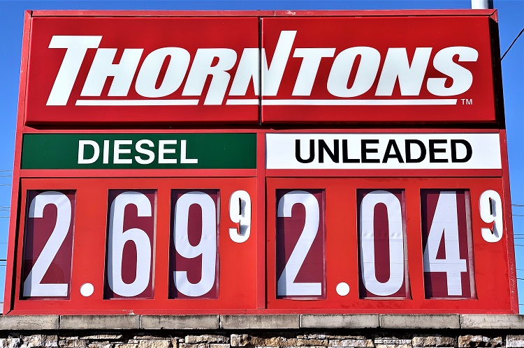 The Tennessee Gas Price average  is $2.39 which is seven cents more than one a week ago, six cents more than a month ago and 41 cents more than a year ago. Here in Murfreesboro, on Monday afternoon some retailers had regular gas at $2.04 per gallon.