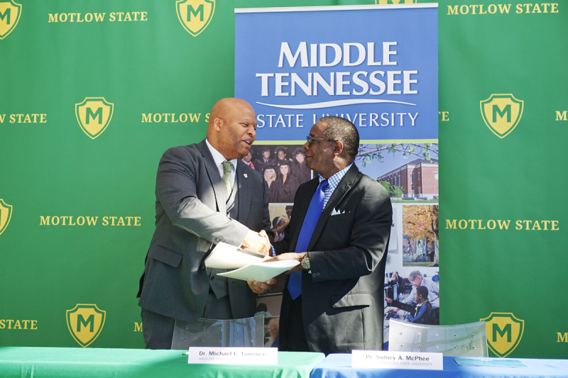 MTSU, Motlow State presidents sign agreement to ease transfer process